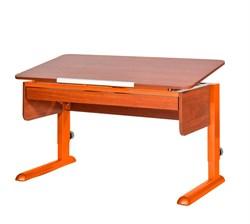 Парта для школьника для дома Астек МОНО-2 с органайзером (Цвет столешницы:Яблоня, Цвет ножек стола:Оранжевый) - фото 22726