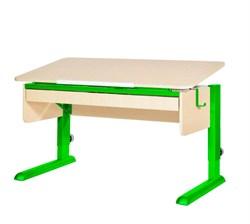 Парта для школьника для дома Астек МОНО-2 с органайзером (Цвет столешницы:Береза, Цвет ножек стола:Зеленый) - фото 22766