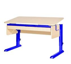 Парта для школьника для дома Астек МОНО-2 с органайзером (Цвет столешницы:Береза, Цвет ножек стола:Синий) - фото 22796