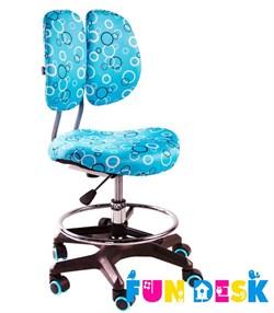 Детское кресло FunDesk SST6 (Цвет обивки:Голубой, Цвет каркаса:Серебро) - фото 22850