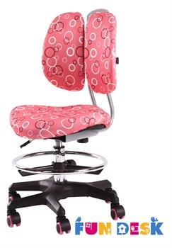 Детское кресло FunDesk SST6 (Цвет обивки:Розовый, Цвет каркаса:Серебро) - фото 22855