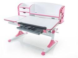 Парта для школьника для дома Mealux Aivengo - L (Белый, Розовый) - фото 22975