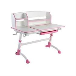 Парта-трансформер для школьника FunDesk Amare II (Цвет столешницы:Белый, Цвет ножек стола:Розовый) - фото 23230