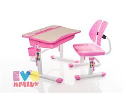 Комплект парта и стульчик Mealux EVO-03 (Клен, Розовый) - фото 23276