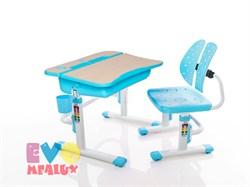 Комплект парта и стульчик Mealux EVO-03 (Клен, Голубой) - фото 23279