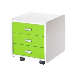 Тумба Астек Лидер 3 ящика с цветными фасадами (Цвет товара:Зеленый) - фото 23294