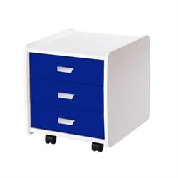 Тумба Астек Лидер 3 ящика с цветными фасадами (Цвет товара:Синий) - фото 23299
