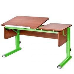 Парта для дома Астек ТВИН-2 (Цвет столешницы:Яблоня, Цвет боковин:Яблоня, Цвет ножек стола:Зеленый) - фото 23344