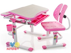 Комплект парта и стульчик Mealux EVO-05 (Клен, Розовый) - фото 23364
