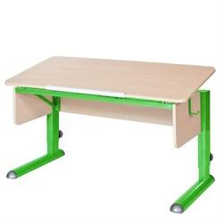 Парта для школьника для дома Астек МОНО-2 (Цвет столешницы:Береза, Цвет ножек стола:Зеленый) - фото 23560