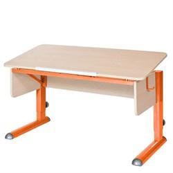 Парта для школьника для дома Астек МОНО-2 (Цвет столешницы:Береза, Цвет ножек стола:Оранжевый) - фото 23565