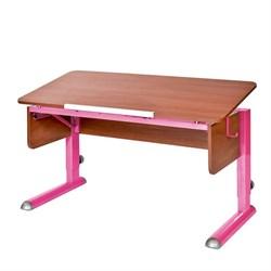 Парта для школьника для дома Астек МОНО-2 (Цвет столешницы:Яблоня, Цвет ножек стола:Розовый) - фото 23580