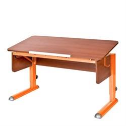 Парта для школьника для дома Астек МОНО-2 (Цвет столешницы:Яблоня, Цвет ножек стола:Оранжевый) - фото 23592