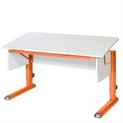 Парта для школьника для дома Астек МОНО-2 (Цвет столешницы:Белый, Цвет ножек стола:Оранжевый) - фото 23595