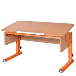 Парта для школьника для дома Астек МОНО-2 (Цвет столешницы:Бук, Цвет ножек стола:Оранжевый) - фото 23598