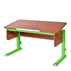 Парта для школьника для дома Астек МОНО-2 (Цвет столешницы:Яблоня, Цвет ножек стола:Зеленый) - фото 23601