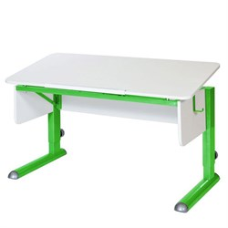 Парта для школьника для дома Астек МОНО-2 (Цвет столешницы:Белый, Цвет ножек стола:Зеленый) - фото 23604