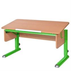 Парта для школьника для дома Астек МОНО-2 (Цвет столешницы:Бук, Цвет ножек стола:Зеленый) - фото 23607