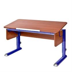 Парта для школьника для дома Астек МОНО-2 (Цвет столешницы:Яблоня, Цвет ножек стола:Синий) - фото 23610
