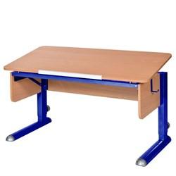 Парта для школьника для дома Астек МОНО-2 (Цвет столешницы:Бук, Цвет ножек стола:Синий) - фото 23616