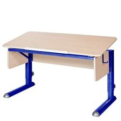 Парта для школьника для дома Астек МОНО-2 (Цвет столешницы:Береза, Цвет ножек стола:Синий) - фото 23619