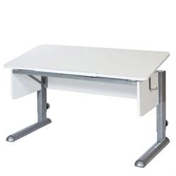 Парта для школьника для дома Астек МОНО-2 (Цвет столешницы:Белый, Цвет ножек стола:Серый) - фото 23625