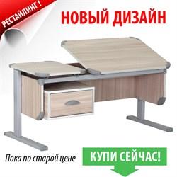 """Парта ДЭМИ """"Ученик"""" сут-29 (Цвет столешницы:Ясень, Цвет ножек стола:Серый) - фото 23819"""