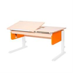 Детская парта Астек ЛИДЕР Береза (Цвет столешницы:Береза, Цвет боковин:Оранжевый, Цвет ножек стола:Белый) - фото 23865