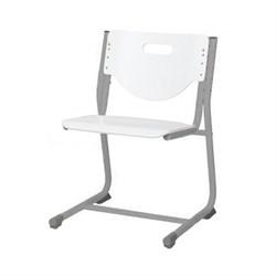 Стул - трансформер Астек SF-3 (Цвет сиденья и спинки стула:Белый, Цвет каркаса:Серый) - фото 24021