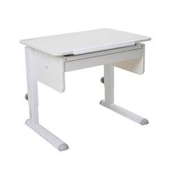 Парта для первоклассника Астек Юниор с ящиком (Цвет столешницы:Белый, Цвет боковин:Белый, Цвет ножек стола:Белый) - фото 24179