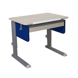Парта для первоклассника Астек Юниор с ящиком (Цвет столешницы:Береза, Цвет боковин:Синий, Цвет ножек стола:Серый) - фото 24268