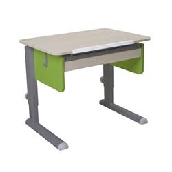 Парта для первоклассника Астек Юниор с ящиком (Цвет столешницы:Береза, Цвет боковин:Зеленый, Цвет ножек стола:Серый) - фото 24288