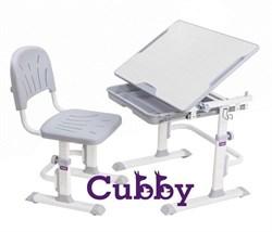 Комплект Cubby парта и стул-трансформеры Lupin WG (Серый) - фото 24338