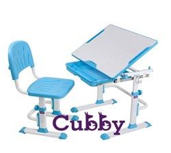 Комплект Cubby парта и стул-трансформеры Lupin WB (Голубой) - фото 24382