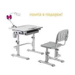 Комплект Cubby парта и стул-трансформеры Karo (Цвет столешницы:Белый, Цвет ножек стола:Серый) - фото 24425