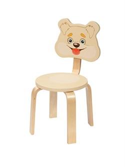 Детский стульчик Polli Tolli Мордочка Собачка (Цвет сиденья и спинки стула:Ваниль, Цвет каркаса:Береза) - фото 24900