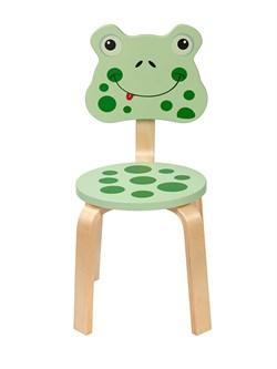 Детский стульчик Polli Tolli Мордочка Лягушка (Цвет сиденья и спинки стула:Салатовый, Цвет каркаса:Береза) - фото 24906