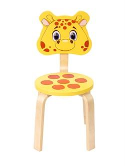 Детский стульчик Polli Tolli Мордочка Жирафик (Цвет сиденья и спинки стула:Желтый, Цвет каркаса:Береза) - фото 24921