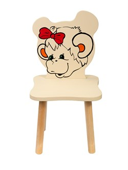 Детский стульчик Polli Tolli Джери Обезьянка (Цвет сиденья и спинки стула:Ваниль, Цвет каркаса:Береза) - фото 24926