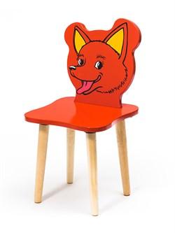 Детский стульчик Polli Tolli Джери Лисёнок (Цвет сиденья и спинки стула:Красный, Цвет каркаса:Береза) - фото 24931