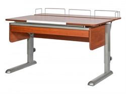 Парта для дома Астек МОНО-2 с фронтальной приставкой и выдвижным органайзером (Цвет столешницы:Яблоня, Цвет ножек стола:Серый) - фото 25403