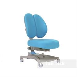 Ортопедическое кресло для детей FunDesk Contento (Цвет обивки:Голубой, Цвет каркаса:Серый) - фото 25493