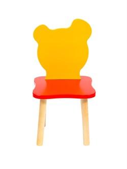 Детский стульчик Polli Tolli Джери Красно-желтый (Цвет сиденья и спинки стула:Красно-желтый, Цвет каркаса:Береза) - фото 25596