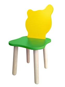 Детский стульчик Polli Tolli Джери Зелено-желтый (Цвет сиденья и спинки стула:Зелено-желтый, Цвет каркаса:Береза) - фото 25600
