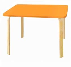 Детский столик Polli Tolli Мордочки оранжевый (Цвет столешницы:Оранжевый, Цвет ножек стола:Береза) - фото 25614