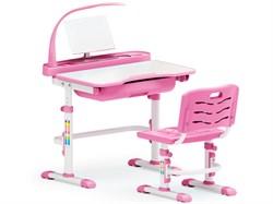 Комплект парта и стульчик Mealux EVO-17 (с лампой) (Белый, Розовый) - фото 25679
