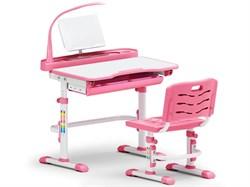 Комплект парта и стульчик Mealux EVO-18 (с лампой) (Белый, Розовый) - фото 25858
