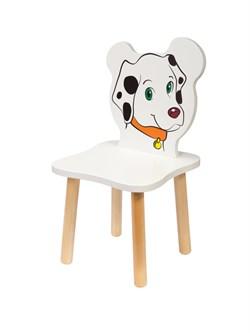Детский стульчик Polli Tolli Джери Далматинец (Цвет сиденья и спинки стула:Белый, Цвет каркаса:Береза) - фото 25889