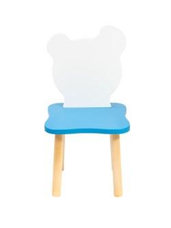 Детский стульчик Polli Tolli Джери Бело-голубой (Цвет сиденья и спинки стула:Бело-голубой, Цвет каркаса:Береза) - фото 25895
