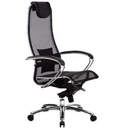 Эргономическое офисное кресло Metta SAMURAI S-1.03 (Цвет обивки:Черный, Цвет каркаса:Серебро) - фото 25918